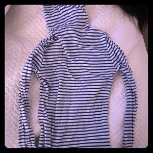 J. Crew tissue turtleneck XXS blue/white stripe